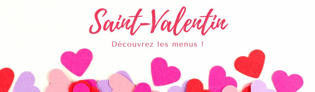 menus Saint-Valentin